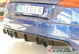 Audi TT (8J-FV/8S) S-Line 14- Накладка на задний бампер/диффузор глянцевая