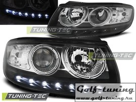 Hyundai Santa Fe 06-12 Фары Devil eyes, Dayline черные