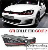 VW Golf 7 12-17 Решетка радиатора GTI look с красной полосой