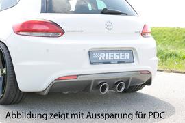VW Scirocco 08-14 Бампер задний R-Line