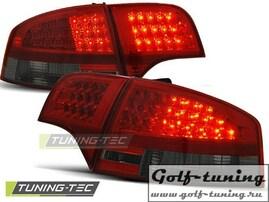 Audi A4 B7 04-07 Седан Фонари светодиодные, красно-тонированные