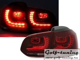 VW Golf 6 Фонари светодиодные, красно-тонированные R20