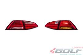 VW Golf 7 12-17 Фонари lightbar design светодиодные, красно-белые