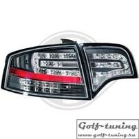 Audi A4 B7 04-08 Седан Фонари светодиодные, черные с светодиодным поворотником