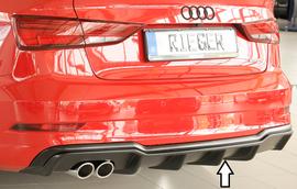 Audi A3 8V Седан/Кабрио 16- Накладка на задний бампер/диффузор