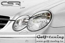Mercedes Benz CLK 209 02-10 Реснички на фары