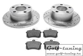 Audi /Skoda/VW Комплект спортивных тормозных дисков и колодок