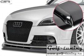 Audi TT 8J 06-14 Накладка на передний бампер Cupspoilerlippe carbon look