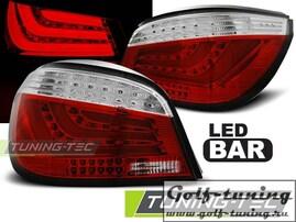 BMW E60 03-07 Фонари светодиодные, красно-белые Lightbar с светодиодным поворотником