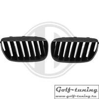 BMW X5 03-07 Решетки радиатора (ноздри) черные