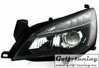 Opel Astra J Фары Devil eyes, Dayline черные