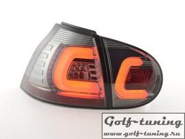 VW Golf 5 Фонари светодиодные, тонированные Lightbar design