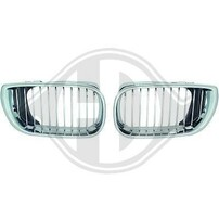 BMW E46 01-05 Седан/Универсал Решетки радиатора (ноздри) хром