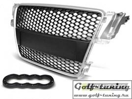 Audi A5 07-11 Решетка радиатора RS-STYLE серебристая