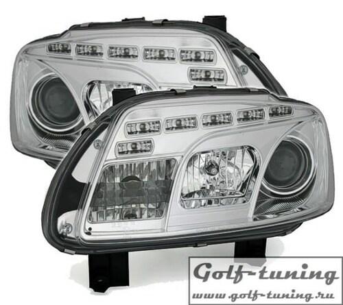 VW Touran 1T 03-06 Фары Devil eyes, Dayline хром