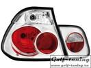 BMW E46 99-00 Седан Фонари хром-красные