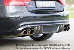Audi S5 B8/B81 07-11 Sportback Накладка на задний бампер/диффузор Carbon Look