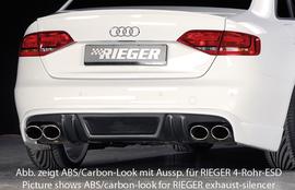 Audi A4 B8 07-11 Диффузор для заднего бампера черный