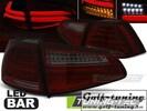 VW Golf 7 12-17 Фонари светодиодные, красно-тонированные Led bar design