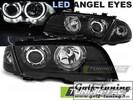 BMW E46 98-01 Седан/Универсал Фары с LED ангельскими глазками черные