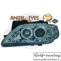 Citroen Xsara 97-00 Фары с линзами и ангельскими глазками хром