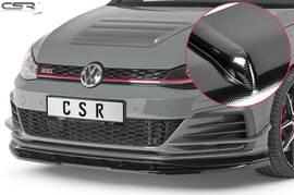 VW Golf 7 GTI TCR 19-20 Накладка на передний бампер Carbon look