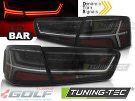 Audi A6 C7 11-14 Седан Фонари светодиодные, черные, с динамическим поворотником