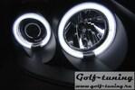 Renault Clio 01-05 Фары angel eyes с CCFL глазками черные