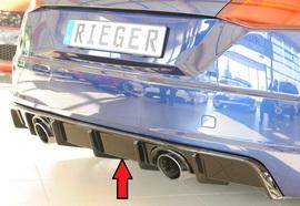 Audi TT (8J-FV/8S) S-Line 14-18/18- Накладка на задний бампер/диффузор глянцевая