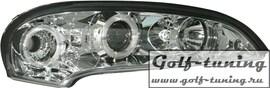 Opel Tigra 94-00 Фары с линзами и ангельскими глазками хром