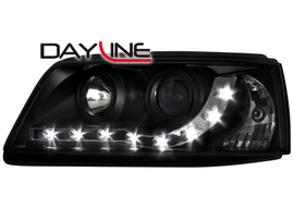 VW T5 03-09 Фары Devil eyes, Dayline черные