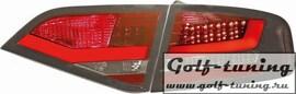 Audi A4 B8 07-11 Седан Фонари светодиодные, красно-тонированные Lightbar design