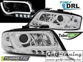 Audi A6 01-04 Фары Tube Lights хром