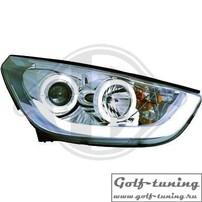 Hyundai IX35 10- Фары Lightbar design хром