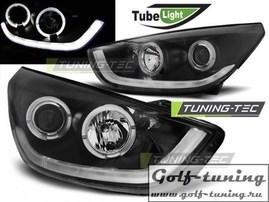 Hyundai Tucson IX35 10-13 Фары Tube lights черные
