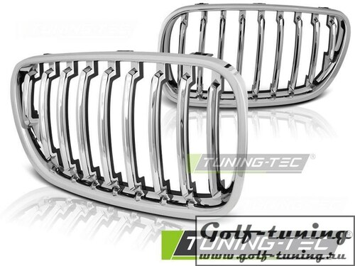 BMW X3 E83 06-10 Решетки радиатора (ноздри) хром