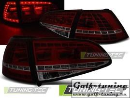 VW Golf 7 12-17 Фонари светодиодные, GTI Look красно-тонированные