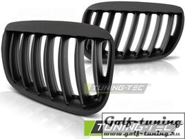 BMW X5 E53 03-06 Решетки радиатора (ноздри) черные, матовые