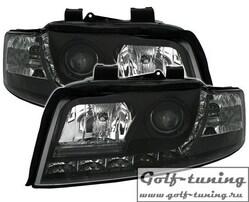 Audi A4 8E 00-04 Фары Devil eyes, Dayline черные