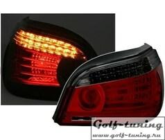 BMW E60 03-07 Фонари светодиодные, красно-тонированные