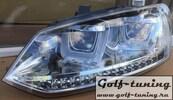 VW Polo 6R 09-14/Polo 6C 15-/Polo Sedan 09-20 Фары в стиле гольф 7 гти хром