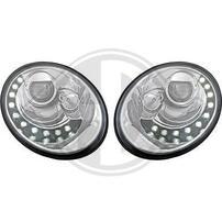 VW Beetle 05-11 Фары Devil eyes, Dayline хром