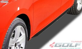 Ford Focus 2 Накладки на пороги Slim