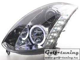 Infiniti G35 Coupe 03-07 Фары Devil eyes, Dayline хром под ксенон