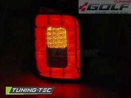 VW T6 Transporter 15- Фонари светодиодные, led bar красно-тонированные