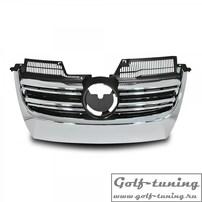 VW Golf 5/Jetta 5 Решетка радиатора без значка с хром полосками