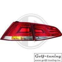 VW Golf 7 12-17 Фонари светодиодные, красно-белые Lightbar design