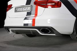 Audi A4 B8 Универсал 11-15 Диффузор S-Line для заднего бампера