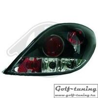 Peugeot 207 06-12 Фонари черные