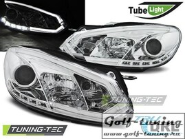 VW Golf 6 Фары Tube lights хром